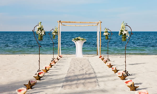 Beach Wedding at Excellence Resorts