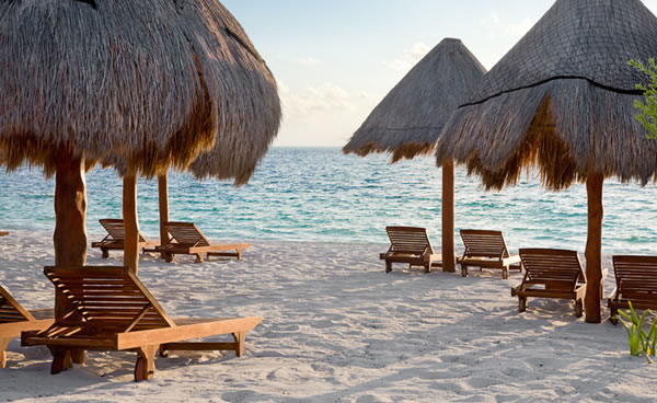 The beach at Excellence Riviera Cancun